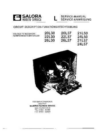 SALORA 26L37 COLOUR TV SERVICE MANUAL by download #109206