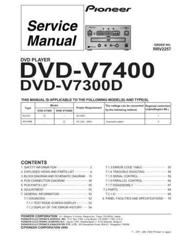 Pioneer R2257 Manual by download Mauritron #227942