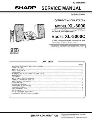 Sharp XL3000 Service Manual by download Mauritron #231592