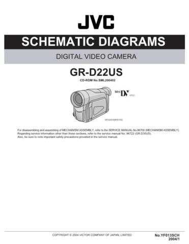 JVC GR-D22US Service Manual. On by download Mauritron #270554