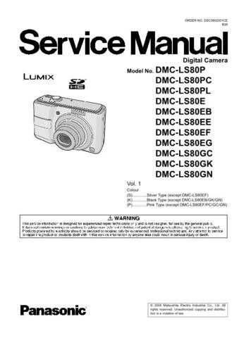 Panasonic DMC-LZ1GN Service Manual with Schematics by download Mauritron #266910