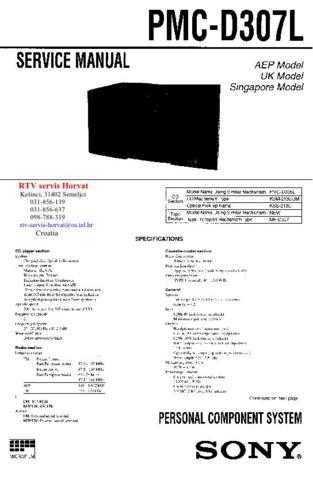 SONY PMCD307L Technical Info by download #104830