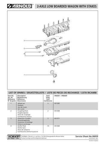 Arnold No.059 2-Axle Low Boarded Wagon With Stakes HN6001 Views etc by download