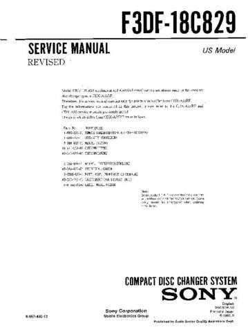 Sony F58F-18C830 Service Manual by download Mauritron #240700
