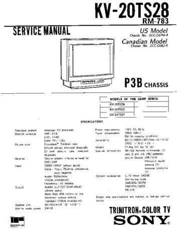 Sony KV-20TS28 Manual by download Mauritron #229532