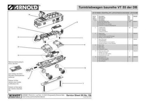 Arnold No.196 Baureihe VT 55 der DB HN2028 Information by download Mauritron #2