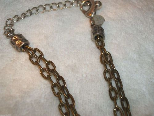 Laura Ashley signed Necklace with 3 drop pendant