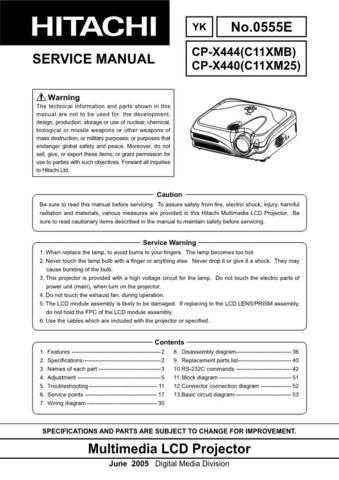 Hitachi CPX440 Service Manual Schematics by download Mauritron #205923
