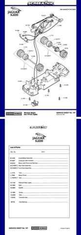 Scalextrix No.167 Jagual XJ220 Service Sheets by download Mauritron #206350