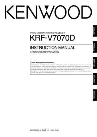 Kenwood KRF-V7090D by download Mauritron #219497