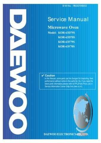 Daewoo R63D79S002(r) Manual by download Mauritron #226488