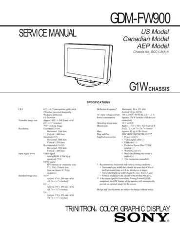 SONY G420 Technical by download #104944