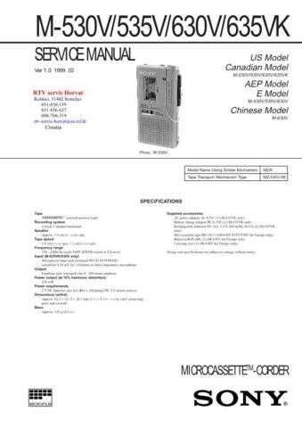 SONY M530V M535V M630V M635VK Technical Info by download #104807