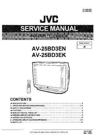 JVC AV-21L31ME AV-25L31ME Service Manual Schematic Circuit. by download Mauritron #26