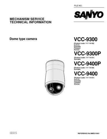 Fisher. Service Manual For VCC-9300P-01 by download Mauritron #217517