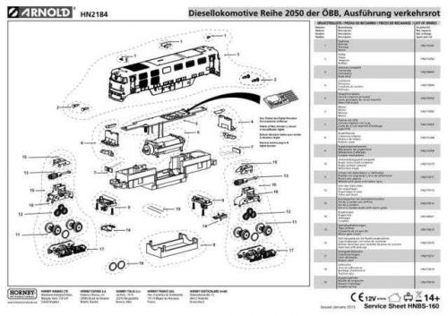 Arnold No.160 Reihe 2050 der OBB Ausfuhrung verkehrsrot HN2184 Views etc by dow