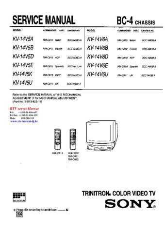 sony kv 14v6e service manual by download mauritron 244264 rh unisquare com Sony Vaio User Manual Sony Phones