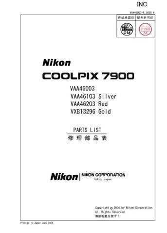 NIKON Coolpix 7900 Parts List by download Mauritron #265897