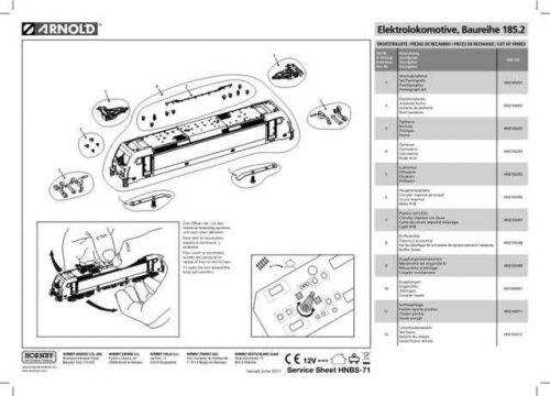 Arnold No.071 Baureihe 185.2 HN2105 Views etc by download Mauritron #205990