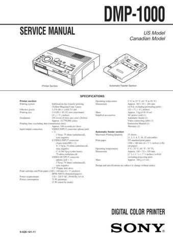 Sony DPP-EX50 Service Manual... Service Manual by download Mauritron #240112