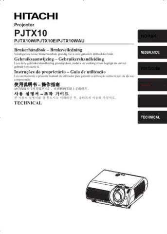 Hitachi PJTX10W_NO Service Manual by download Mauritron #263811