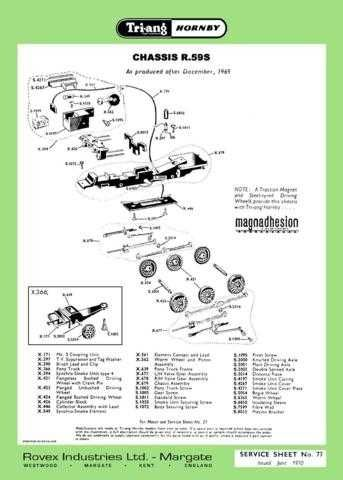 Triang Tri-ang No.077 Chassis R59S Service Sheets by download Mauritron #206278