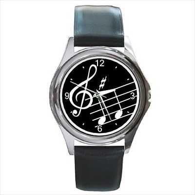 Music Notes Treble Clef Musician Art Wrist Watch NEW