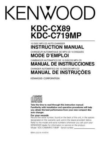 Kenwood kdc-d300 Operating Guide by download Mauritron #221928