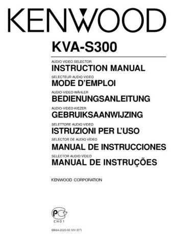 Kenwood KVA-S300 Operating Guide by download Mauritron #219581