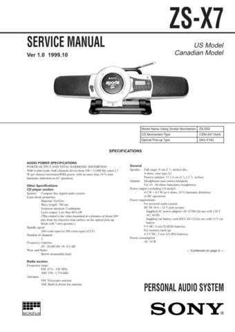 Sony-SAT-T60 Technical Info by download #105390