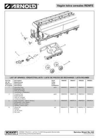 Arnold No.342 Vagon tolva cereales RENFE HN6052 Information by download Mauritr