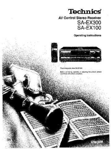 Panasonic SAEX300 Operating Instruction Book by download Mauritron #236382