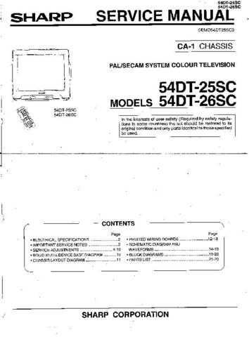 Sharp 54DT25SC-26SC (1) Service Manual by download Mauritron #207842