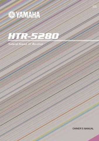 Yamaha HTR-5280KAI1 Operating Guide by download Mauritron #248136