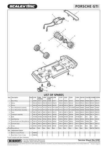 Scalextrix No.329C Porsche GTI Service Sheets by download Mauritron #206412