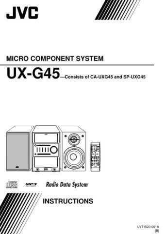 JVC SP-UXG45.. Service Manual. On by download Mauritron #272418