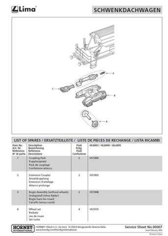 Hornby No.00007 Articulated Roof Car (Lima) Information by download Mauritron #