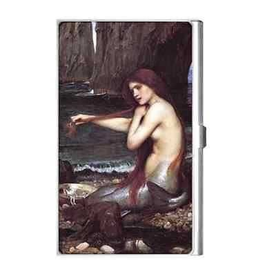 The Mermaid John William Waterhouse Art Business Card Holder