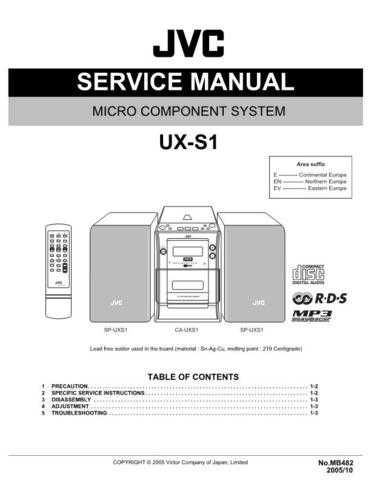 JVC UX-S1 Service Manual Schematic Circuit. by download Mauritron #272931