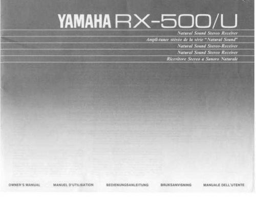 Yamaha RXV740 Operating Guide by download Mauritron #249826