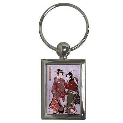 Geisha Women Japan Japanese Art Keychain