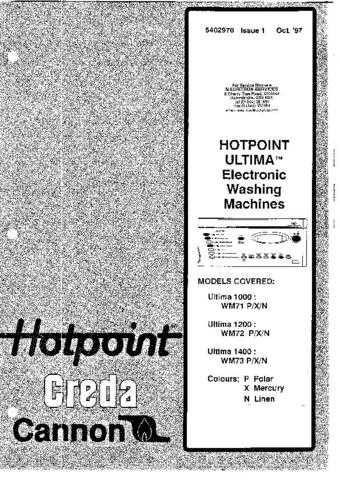 CREDA WM71, WM72, WM73 SERVICE (A487 by download #107924