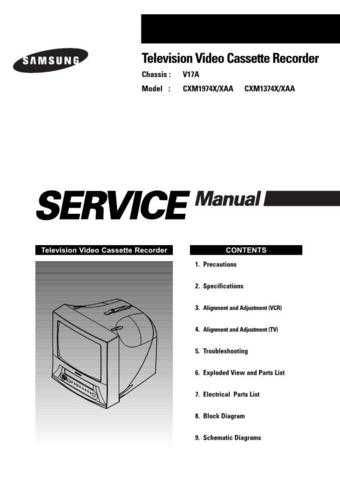 Samsung CXM1374 Service Manual by download Mauritron #230761