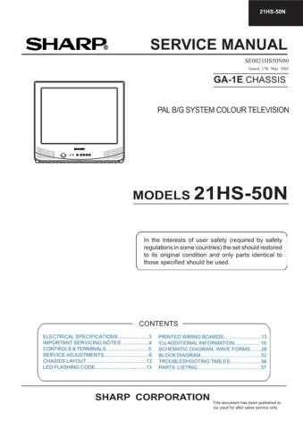 Sharp 21HS50N (1) Service Manual by download Mauritron #207445