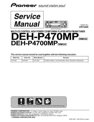 Pioneer C3400 Manual by download Mauritron #227582