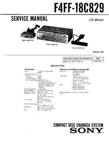 Sony F5VF-18C830 Service Manual by download Mauritron #240707
