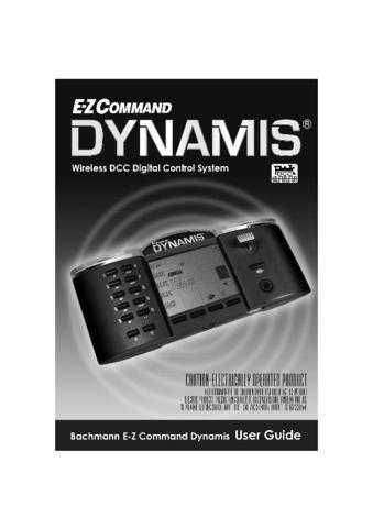 Bachmann Dynamis User Guide Information by download Mauritron #206118