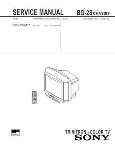SONY BG-2S-1 TECHNICAL I by download #107190