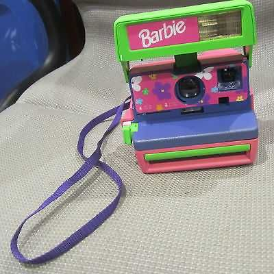 Vintage Polaroid BARBIE Camera Auto Focus Flash/Pink/Purple/Green Camera