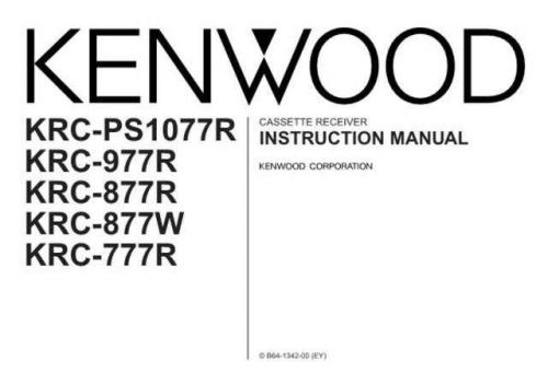 Kenwood krc-877r Operating Guide by download Mauritron #222712